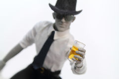 Holding glass of beer Stock Photos