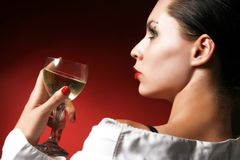 Holding a glass of wine Stock Photos
