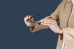 Holding glasses. Stock Photography