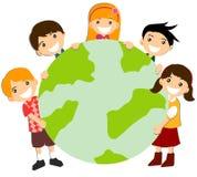 Holding Globe Royalty Free Stock Images