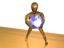 Holding the globe Royalty Free Stock Photo
