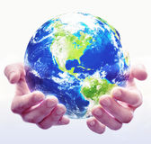 Holding Globe White Royalty Free Stock Photo