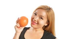 Holding Grapefruit Stock Images