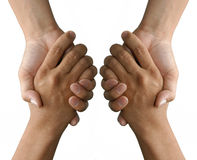 Holding or grasping hands Royalty Free Stock Image