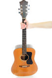 Holding Guitar Royalty Free Stock Photography