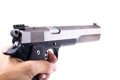 Holding a Gun Stock Photography