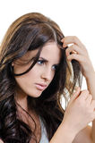 Holding Hair Portrait Royalty Free Stock Photos
