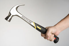 Holding hammer Royalty Free Stock Images