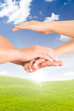 Holding hand Royalty Free Stock Images