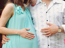 Holding Hand on Belly Royalty Free Stock Photo