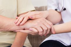 Holding hand Royalty Free Stock Image