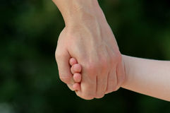 Holding Hands Royalty Free Stock Photography