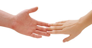 Holding hands. Isolated stock images