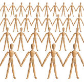 Holding hands. The row of peoples as the friendship Stock Photos