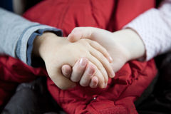 Holding Hands stock images