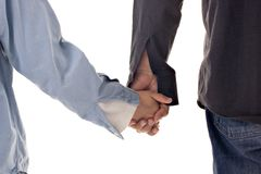 Holding Hands. Father and son holding hands. Concept : Security / Future / Protection Stock Images