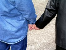 Holding Hands.  Stock Images