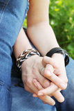 Holding hands, close-up Royalty Free Stock Photography