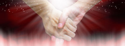 Holding hands- Facebook cover Royalty Free Stock Image