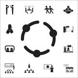 holding hands icon. Conversation and Friendship icons universal set for web and mobile royalty free illustration