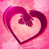 Holding Hands Indicates Valentine Day And Friends Stock Images