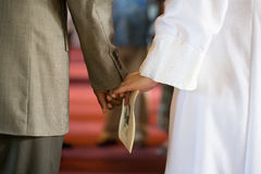 Holding Hands in Prayer Royalty Free Stock Images