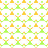 Holding Hands seamless background pattern. Abstract figure shapes holding hands. Triangles seamless geometric pattern Stock Images