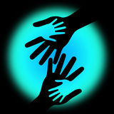 Holding Hands Shows Childhood Parents And Parenting. Holding Hands Meaning Kid Love And Together Stock Photos