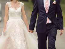 Holding Hands in Street Royalty Free Stock Images