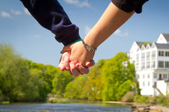 Holding hands together Royalty Free Stock Photo