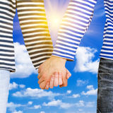 Holding hands together Stock Photography
