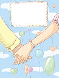 Holding hands. Wedding invitation Royalty Free Stock Images