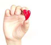 Holding the heart Stock Image