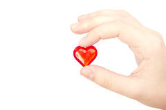 Holding the heart Royalty Free Stock Photo