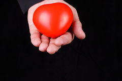 Holding heart Stock Images