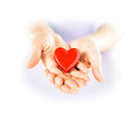 Holding a heart Stock Photos