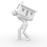 Holding a house Royalty Free Stock Photos