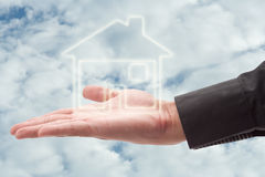 Holding house Stock Image