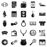 Holding icons set, simple style. Holding icons set. Simple set of 25 holding vector icons for web isolated on white background Royalty Free Stock Photos