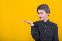 Holding imaginary object stock photos