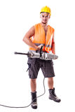 Holding a Jackhammer Stock Photos