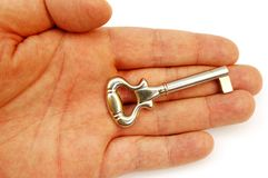 Holding key #5 royalty free stock photography