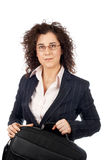 Holding a laptop bag Royalty Free Stock Photo