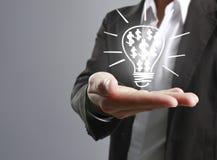 Holding light bulb in hand Stock Photos