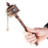 Holding a Mani wheel Royalty Free Stock Image