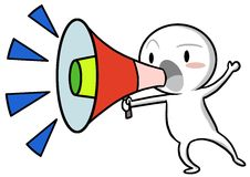 Holding the megaphone shouting Royalty Free Stock Photos