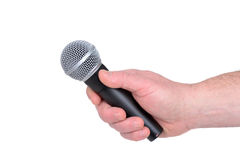 Holding Mic Royalty Free Stock Images