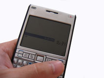 Holding-Mobiltelefon Stockbilder
