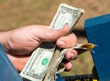 Holding Money Royalty Free Stock Photography