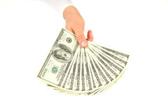 holding money dollars Stock Photography